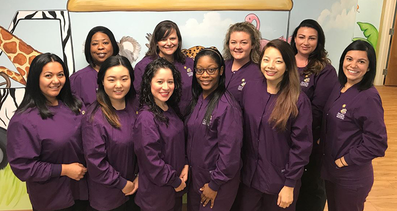 Duluth, GA staff for the pediatric dental offcie of Peachtree Children's Dentistry